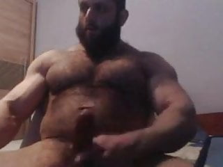 Middle eastern muscle jerk off & cum
