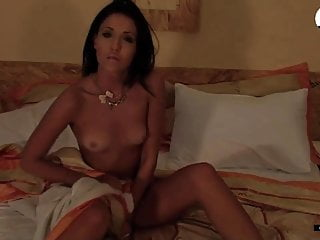 Filming home striptease of 30 yo Ukrainian MILF Masha Dark