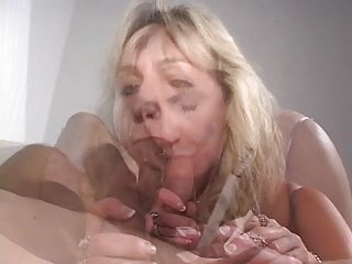Mature cigarette smoking grandma load on her tits...