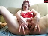 Granny playing with Ass and Pussy at Home