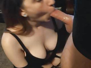Busty giving a hot deepthroat...