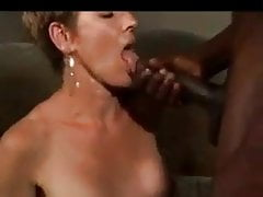 Mature white wife enjoys a young black male with dreadlocks