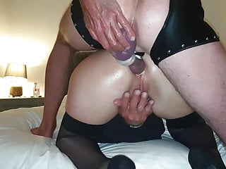 Hotwife mrs funtimes gets arse fucked and dp...