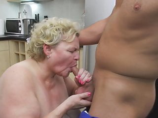 Busty mommy and granny spoiling boys
