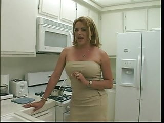 Sexy blonde tranny gets her cock sucked...