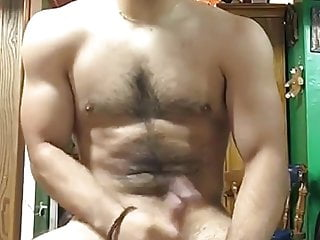 fit as fuck hairy arab cums
