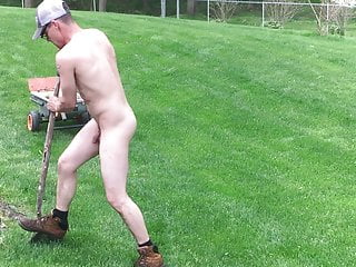 Kevin my car wash guy working naked landscaping Part 4