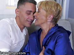 LustyGrandmas, He Skips His Rent By Fucking His GILF Landlady