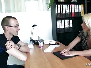 Seduce Young job Mature German Boy at to interview Fuck