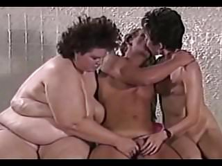 Bbw and skinny women have fun with a...