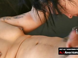 Skinny emo with long hair anally drilled by...