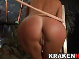Krakenhot Estefani Tarrago spanking in BDSM submission scene