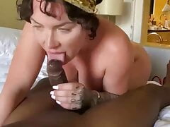 Cuckold watches his wife get fucked