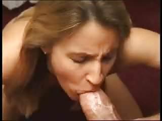 Sucks huge cock...
