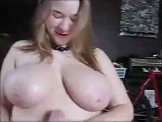 Chubby blonde with big titties cock...