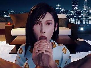 Tifa lockhart blowjob amp facial animation...