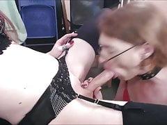 Skilled shemales incredible deep throating skills