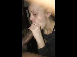 Amateur wife's interracial oral creampie