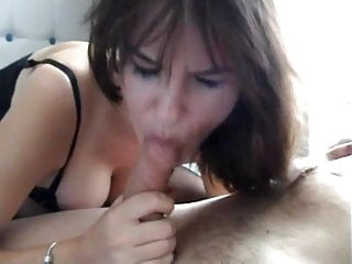 Blowjob in bed beautiful british girl...
