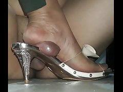 Joyo Mules, Sandals, Cock Crush, Heeljob, Preview