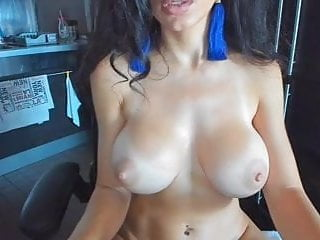 Horny babe nipples fake tits...
