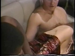 Gets dp fucked on couch the creamed...