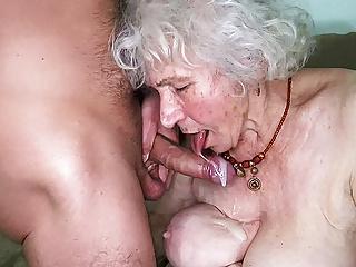 Curvy 91 year old mom fucked by toyboy