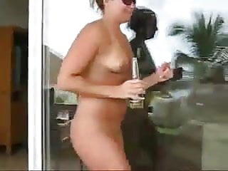 MILF vacation undresses