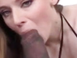 Sucking monster black cock