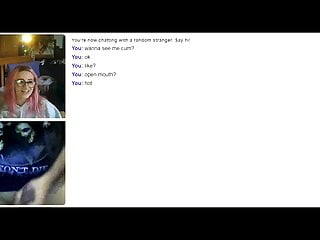 Emo Gothic Girl video: Omegle 15 (cumming for emo girl)