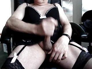 Black lingerie cum...
