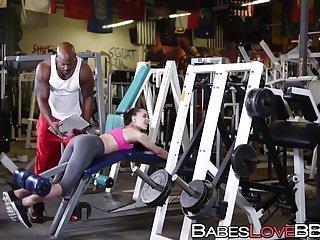 Giant black prick made tiffany star sweat gym...