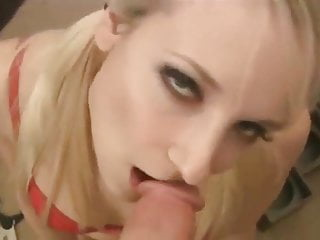 Hot German Blonde Blowjob and Swallow