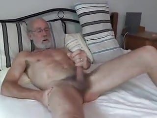 Playing with his cock...
