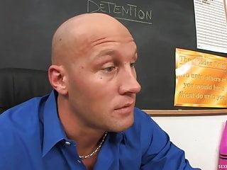 Blonde pigtails fucks teacher...