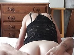 Licking beautiful milf's pussy and ass