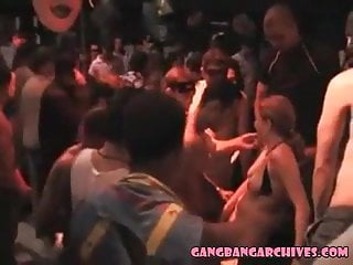 orgy fest during Gangbang Archive amateur Carrebian