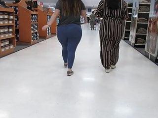 Fat blue leggings...