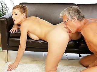 DADDY4K. Dad fucks son's beautiful mistress Victoria Daniels