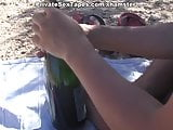 Amateur oral sex on a romantic picnic scene 3