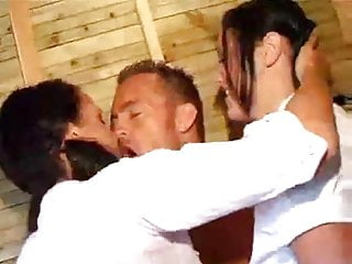 Lucky guy shags 2 hot british chicks pornfix...