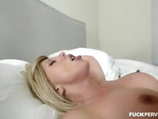 Step Horny milf wakes to a deep penis in her face