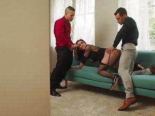 Black Stockings French Slut NATASHA INK Threesome Sex