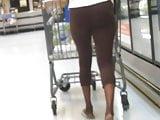 Skinny ebony with big loose bubble butt