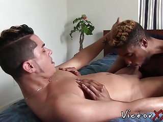 Naughty black twink is eager to suck that...