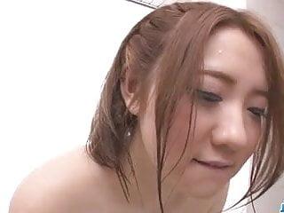 Busty alice ozawa vibrates asian pussy...
