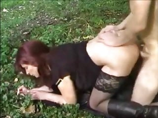 Mom fucked in Forest