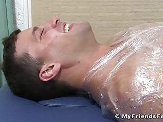 Aldo immobilized to have his soles tickled...