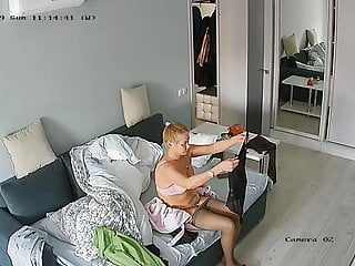 Hidden cameras.A very passionate woman