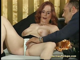 chubby redhead picked up for her first porn videoPorn Videos